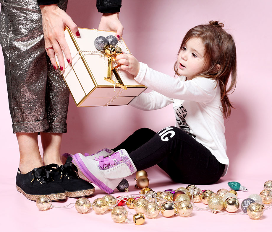 A Keds x Kate Spade glitter sneakers giveaway.