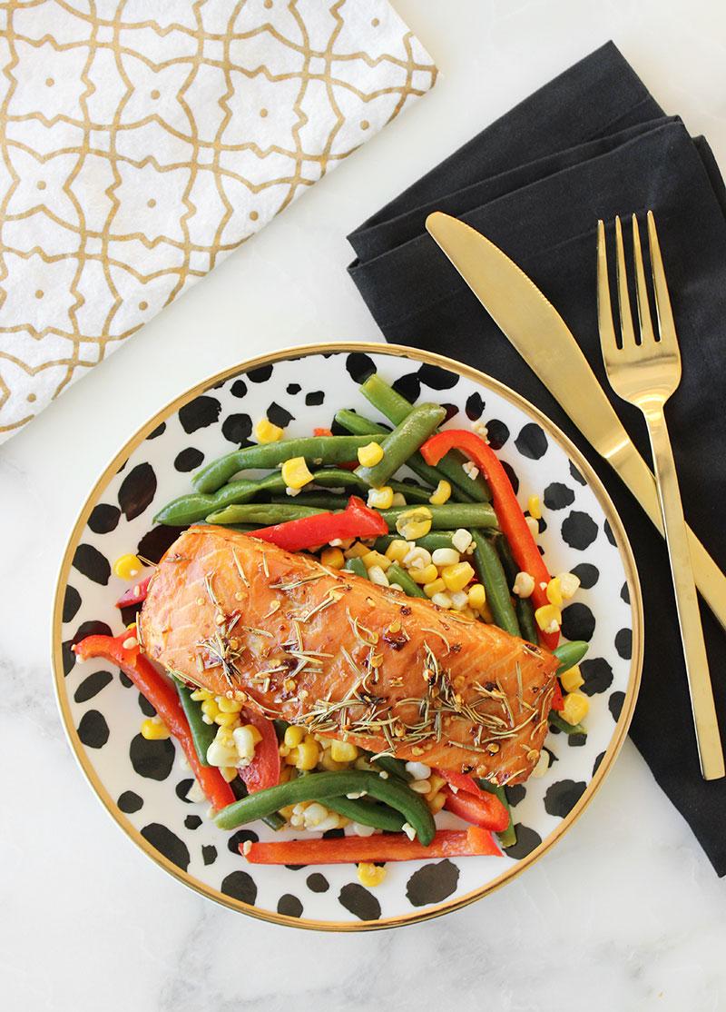 A delicious recipe for spicy salmon.