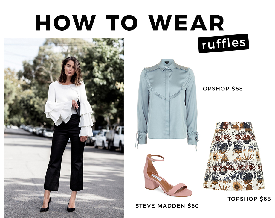 How to Wear ruffle details.