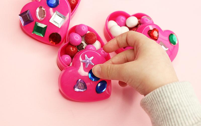 A Valentine's Day Sticker DIY for chocolates.
