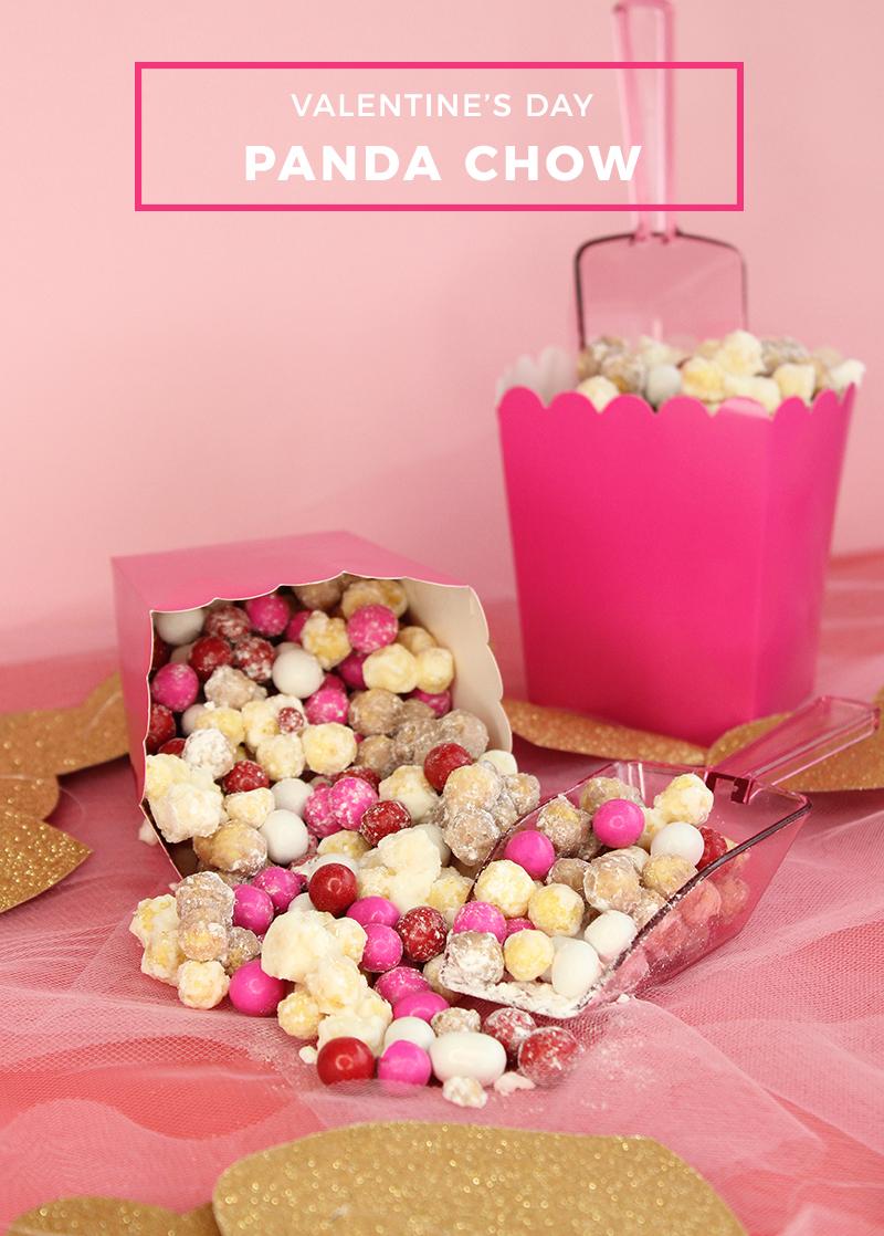 Valentine\'s Day Panda Chow | Glitter and Bubbles Recipe