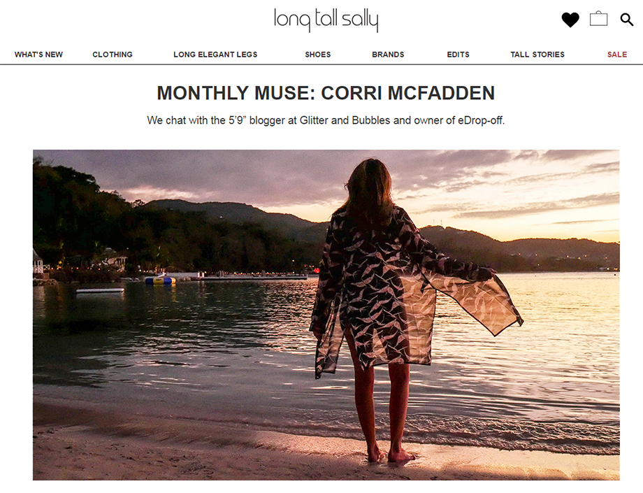 Corri McFadden is the monthly muse at Long Tall Sally.