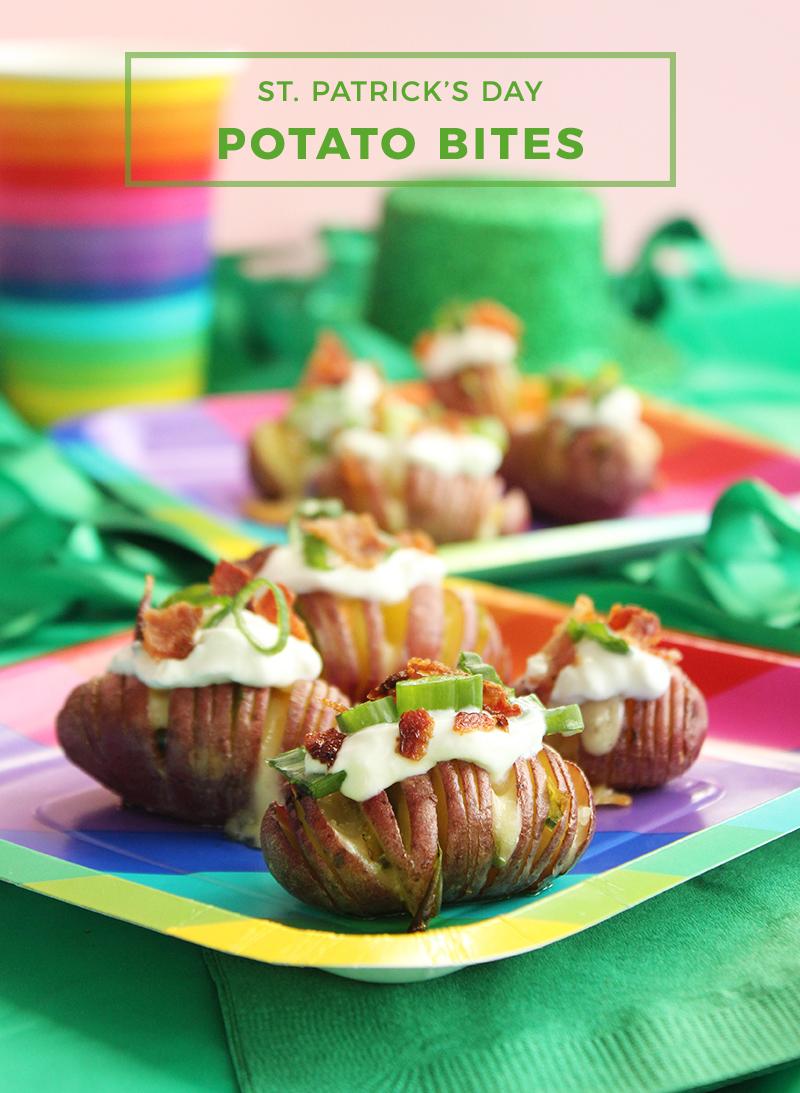 St. Patrick's Day Potato Bites.