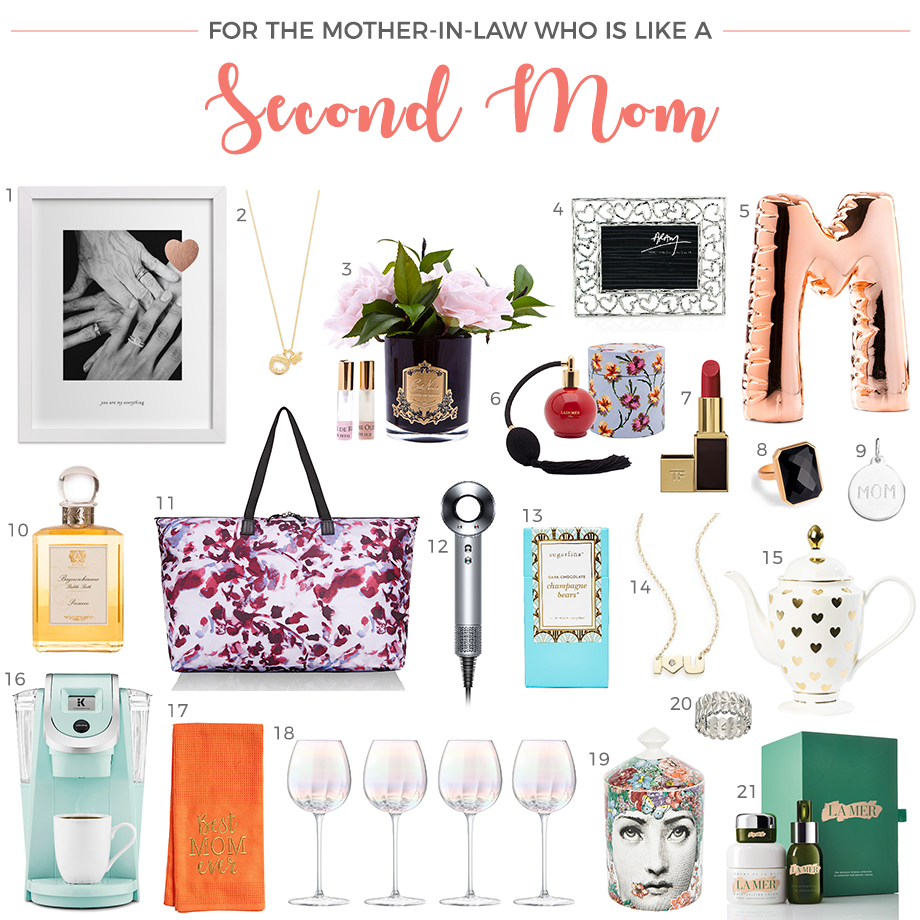 A Mother's Day Gift Guide for your Mother-in-Law who is like your second mom.