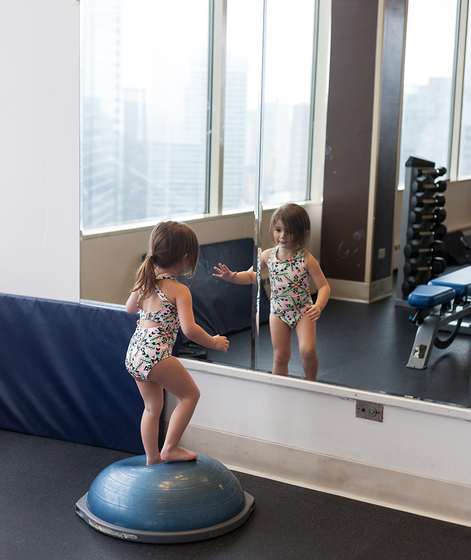 Gym time at the Swissotel.