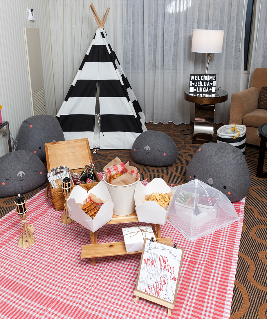 An indoor kid's picnic at the Swissotel.