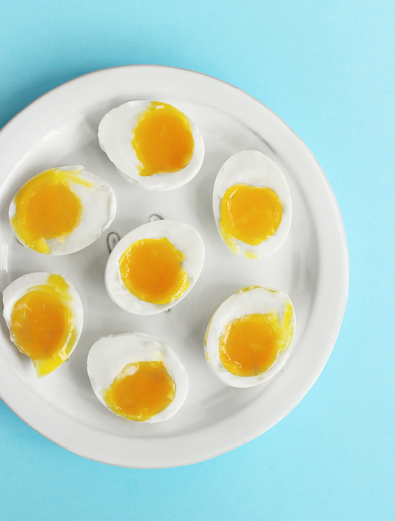 A quick and easy recipe that demonstrates how to make soft boiled eggs.
