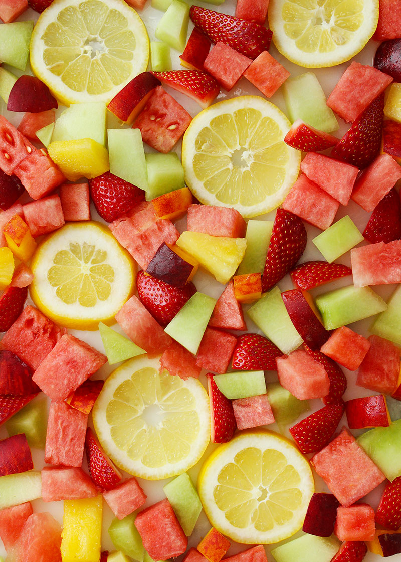 Fresh fruit for smoothies.