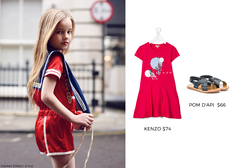 How to wear red: kids edition.
