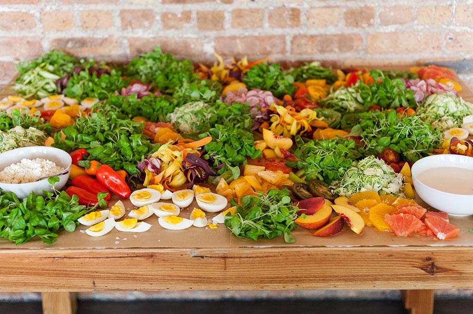 Brique Boutique Bites Salad Bar.