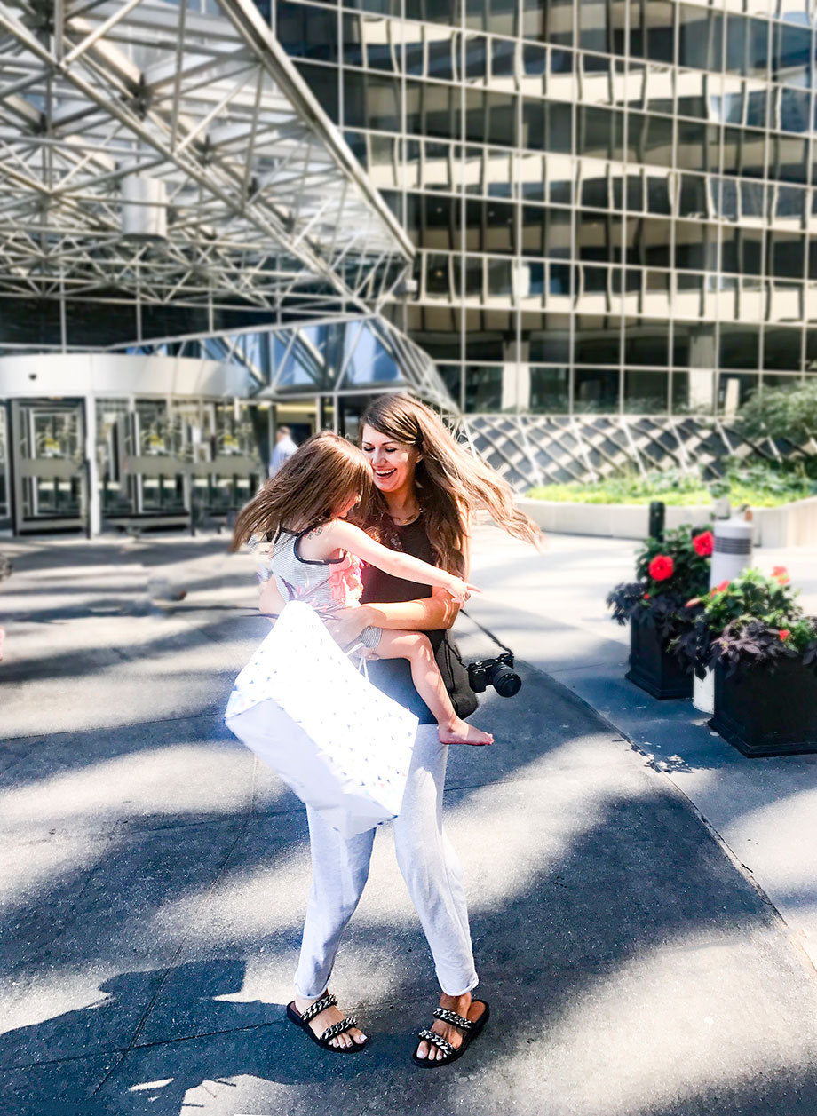 Corri McFadden celebrates at Swissotel Chicago.