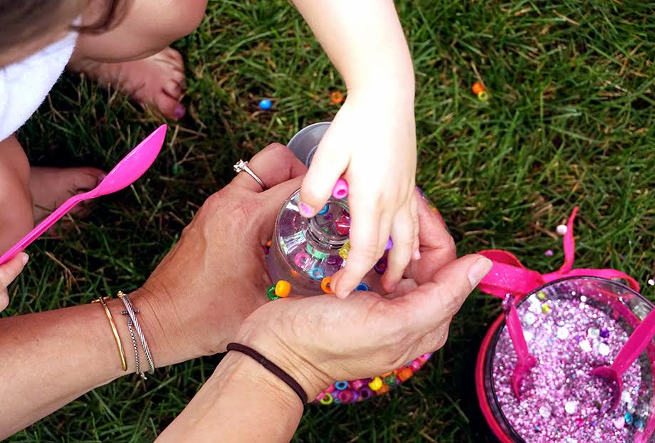 How to make a sensory bottle for a Make to Celebrate DIY.