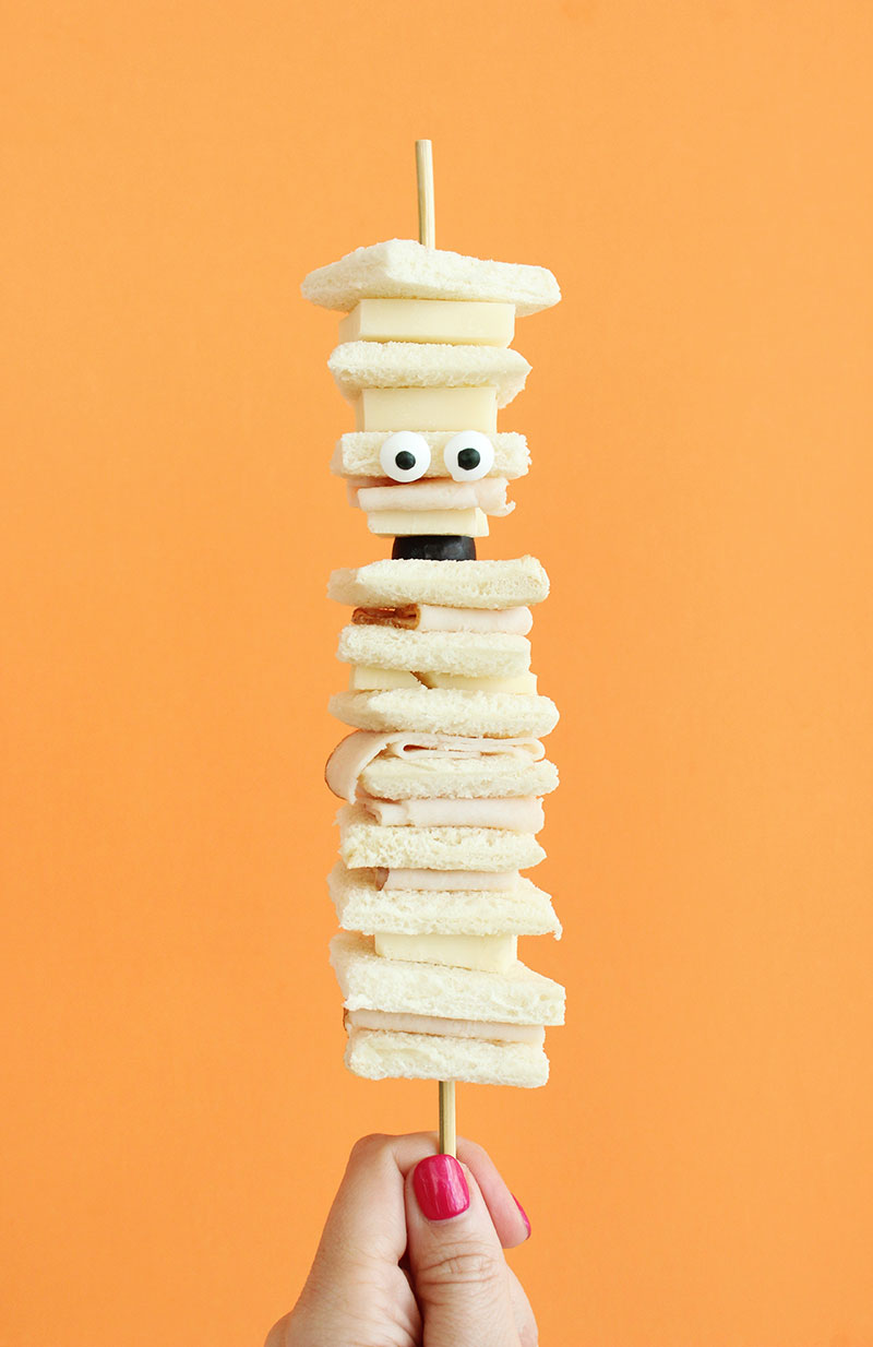 A simple recipe for Spooky Mummy Sandwiches.