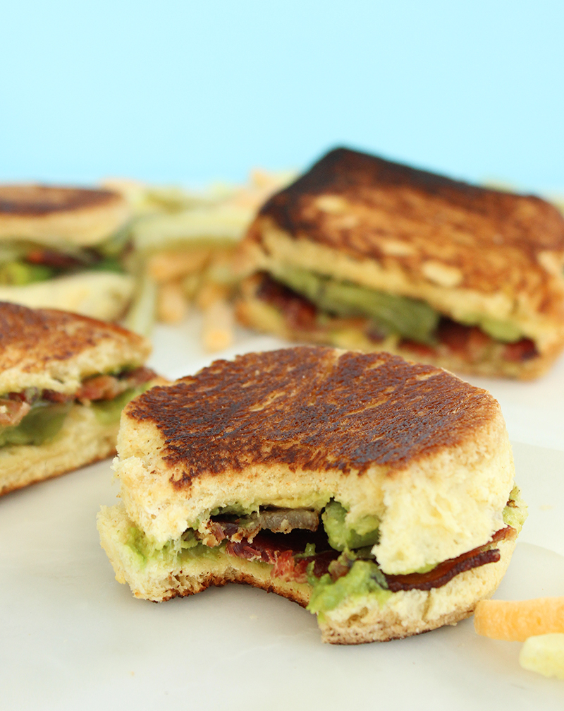 How to make a grilled ABC sandwich.