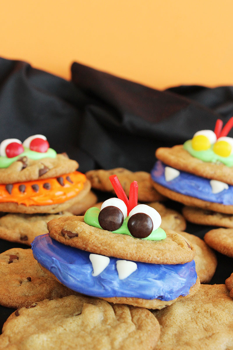 A kid friendly Halloween recipe for scary monster cookies.