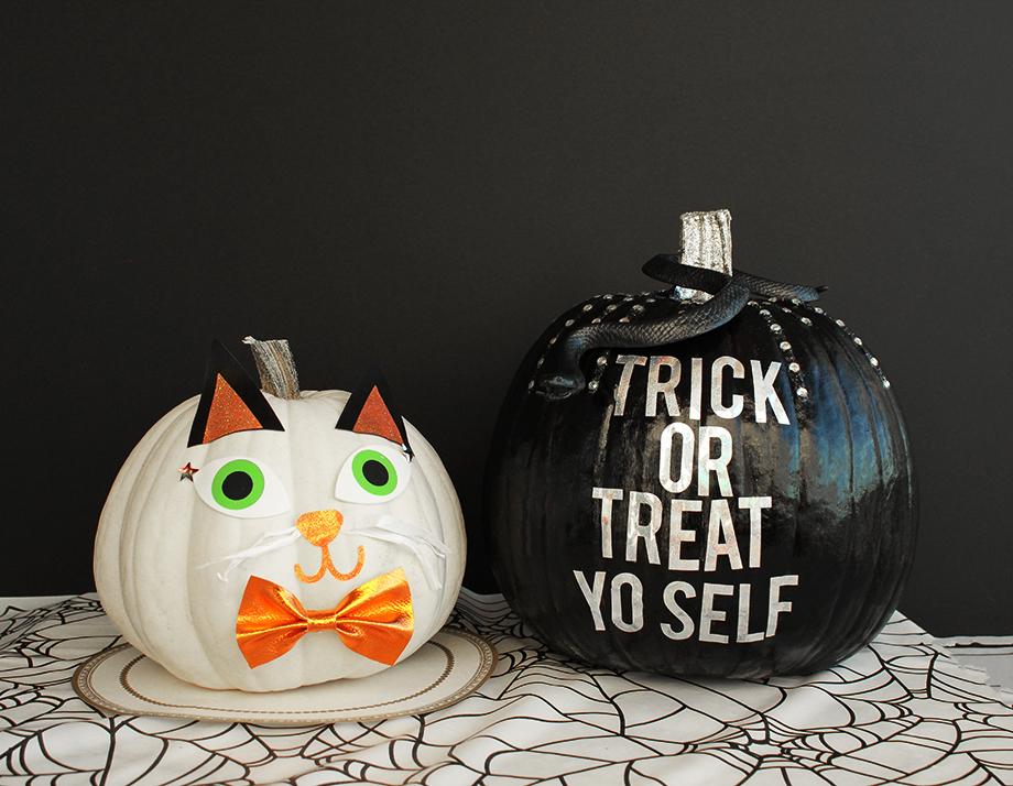 A kitty pumpkin DIY.
