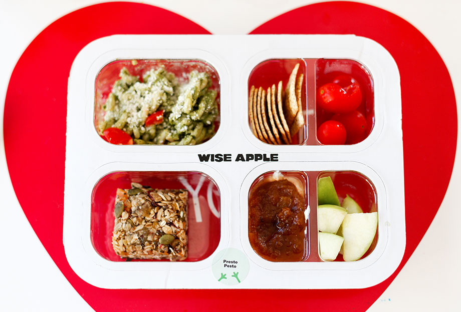 A healthy Wise Apple lunch delivered to your door.