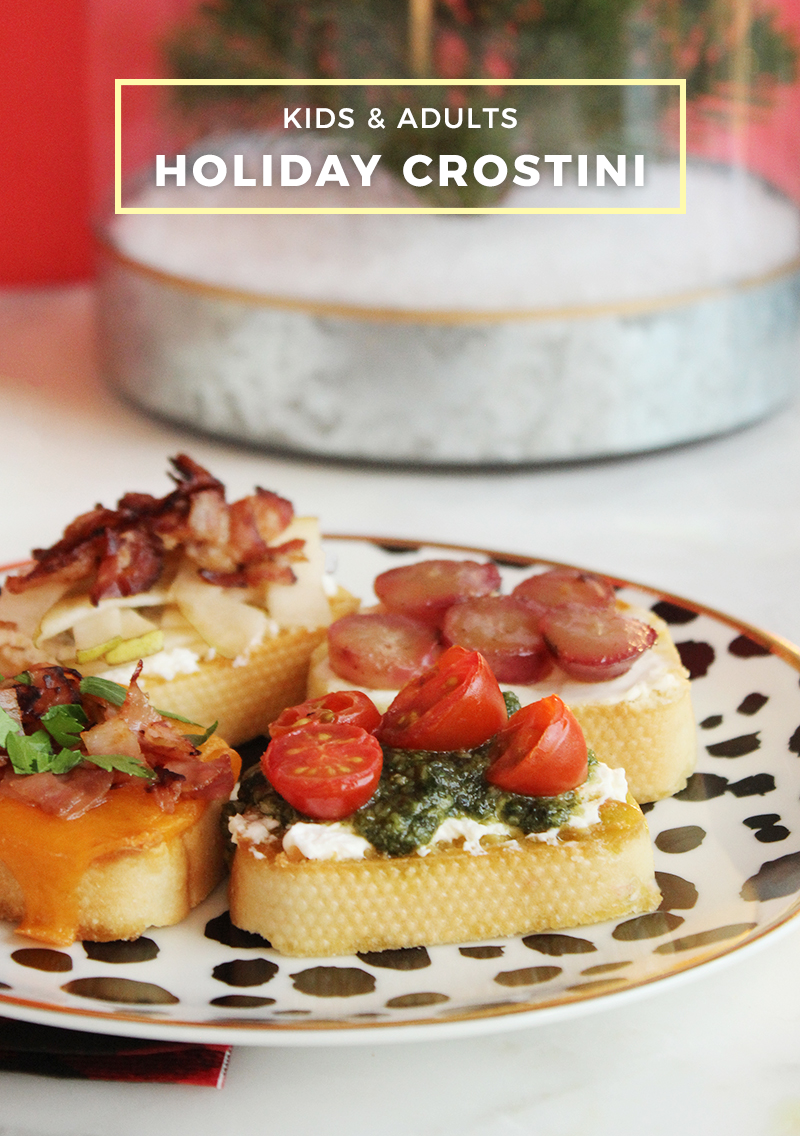 A holiday appetizer recipe for crostini.