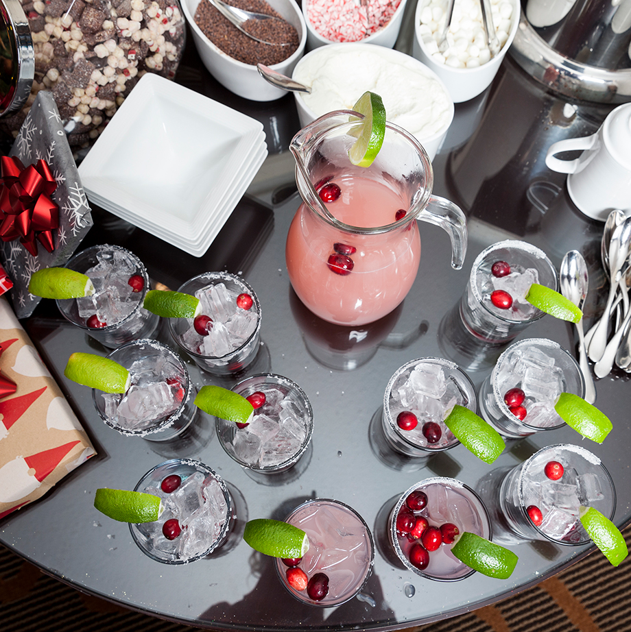 Cranberry Margaritas at the Swissotel.