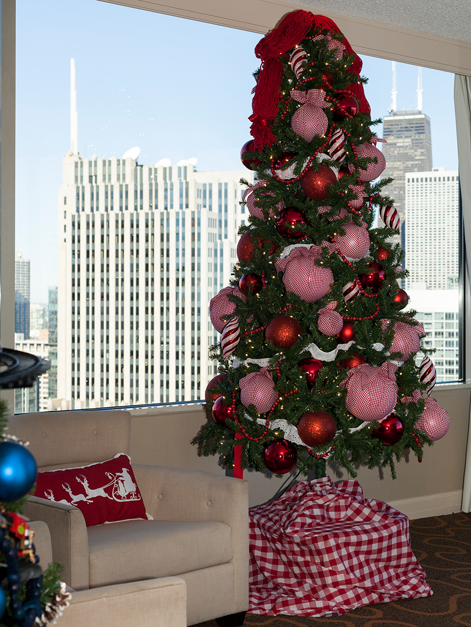 Christmas morning in the Santa Suite at the Swissotel.