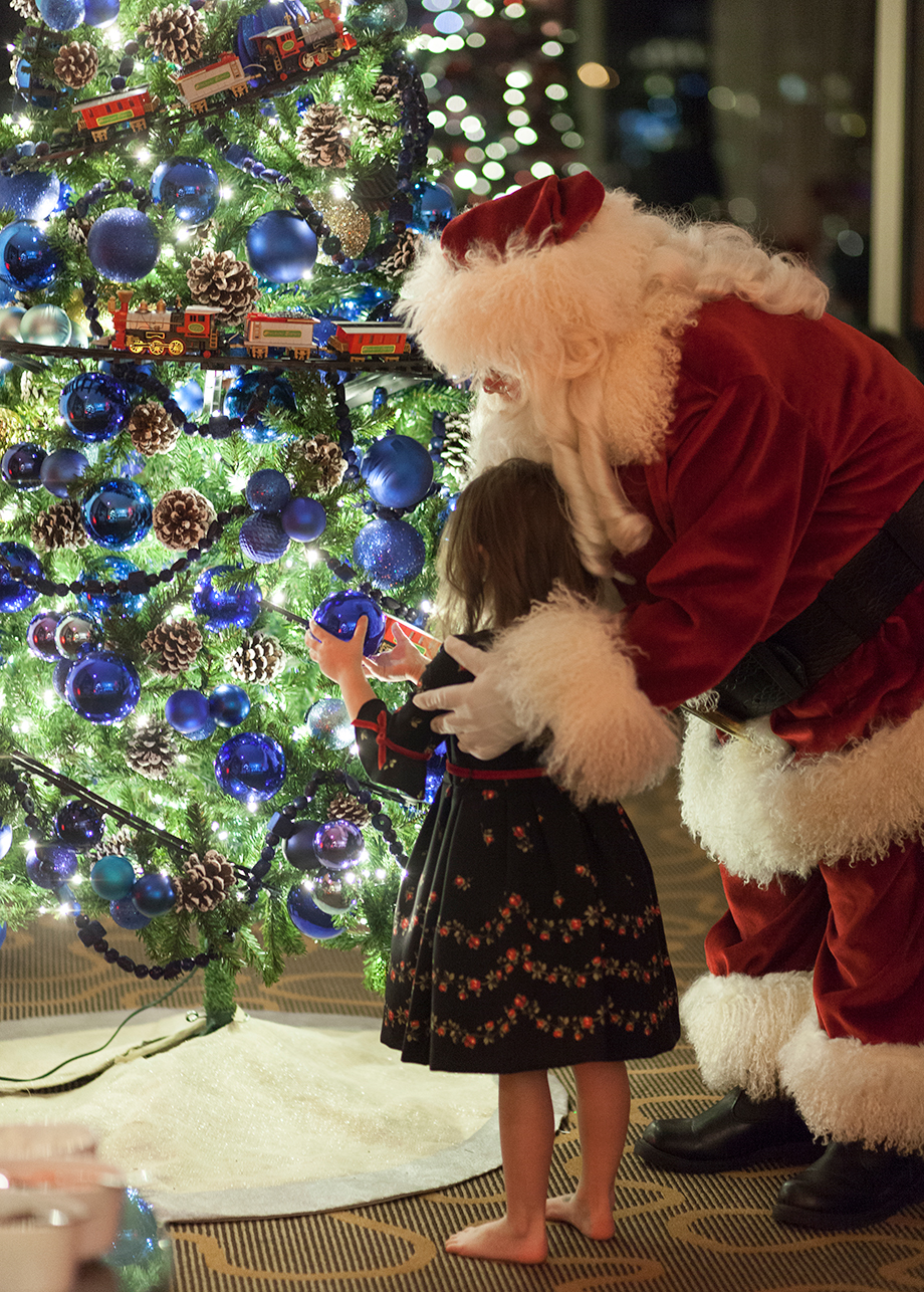 Santa Christmas tree.