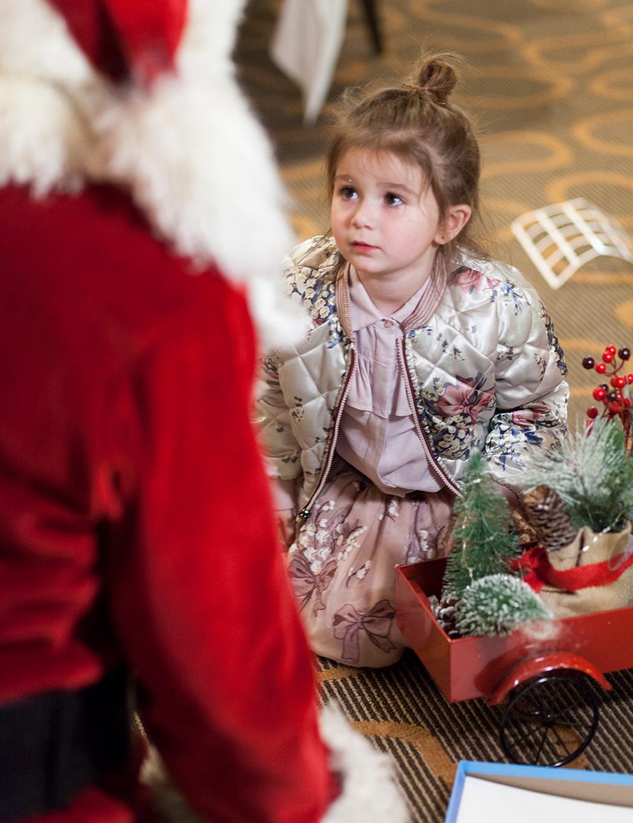 Santa at the Swissotel.