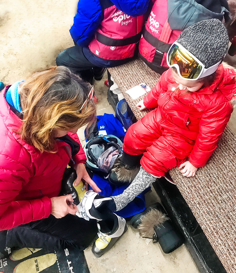 What ski gear to wear to Wilmot mountain for toddlers.