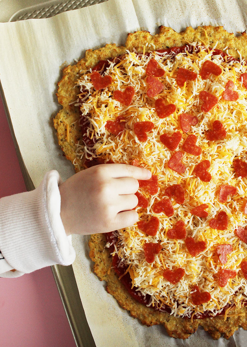 How to make pepperoni pizza hearts.