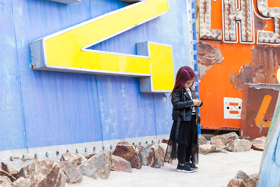 A Kid Friendly Las Vegas travel guide featuring the Neon Museum.