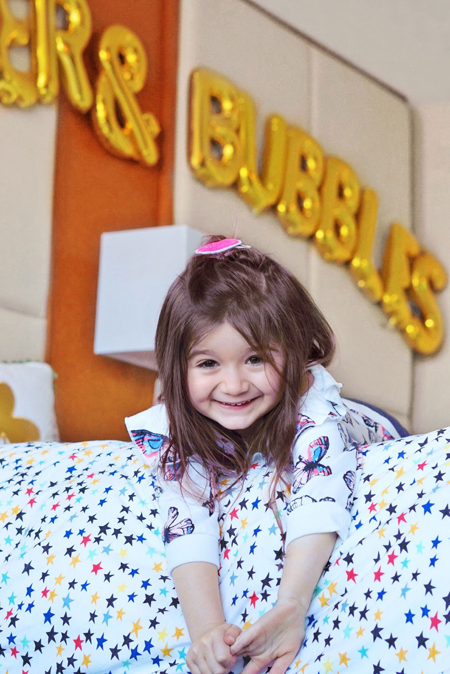Zelda of Glitter and Bubbles takes the Kids Suite at the Swissotel.