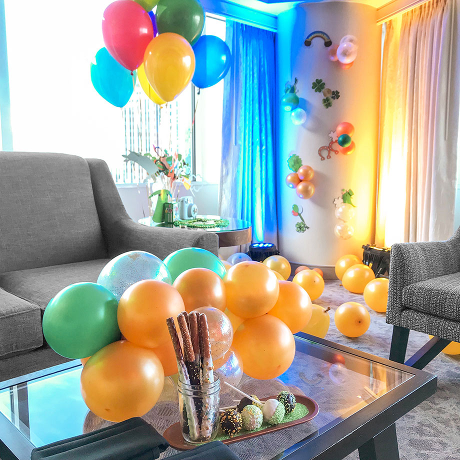 A St. Patrick's Day themed Kids Suite in the Swissotel.