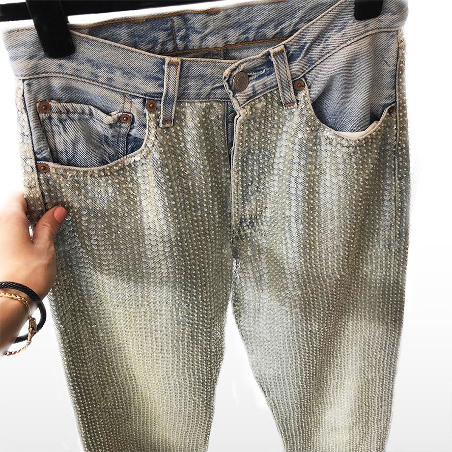 A client story by Corri McFadden featuring sparkle jeans and cancer.