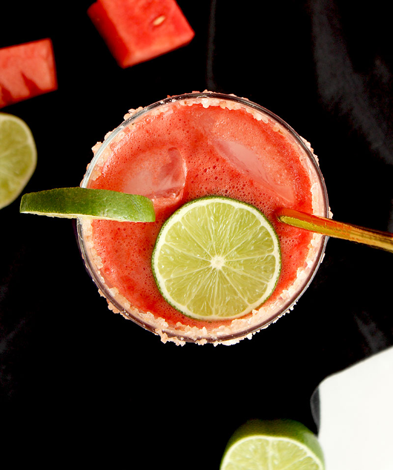 How to make watermelon margaritas at home.