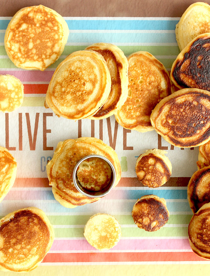 How to make mini buttermilk pancakes.