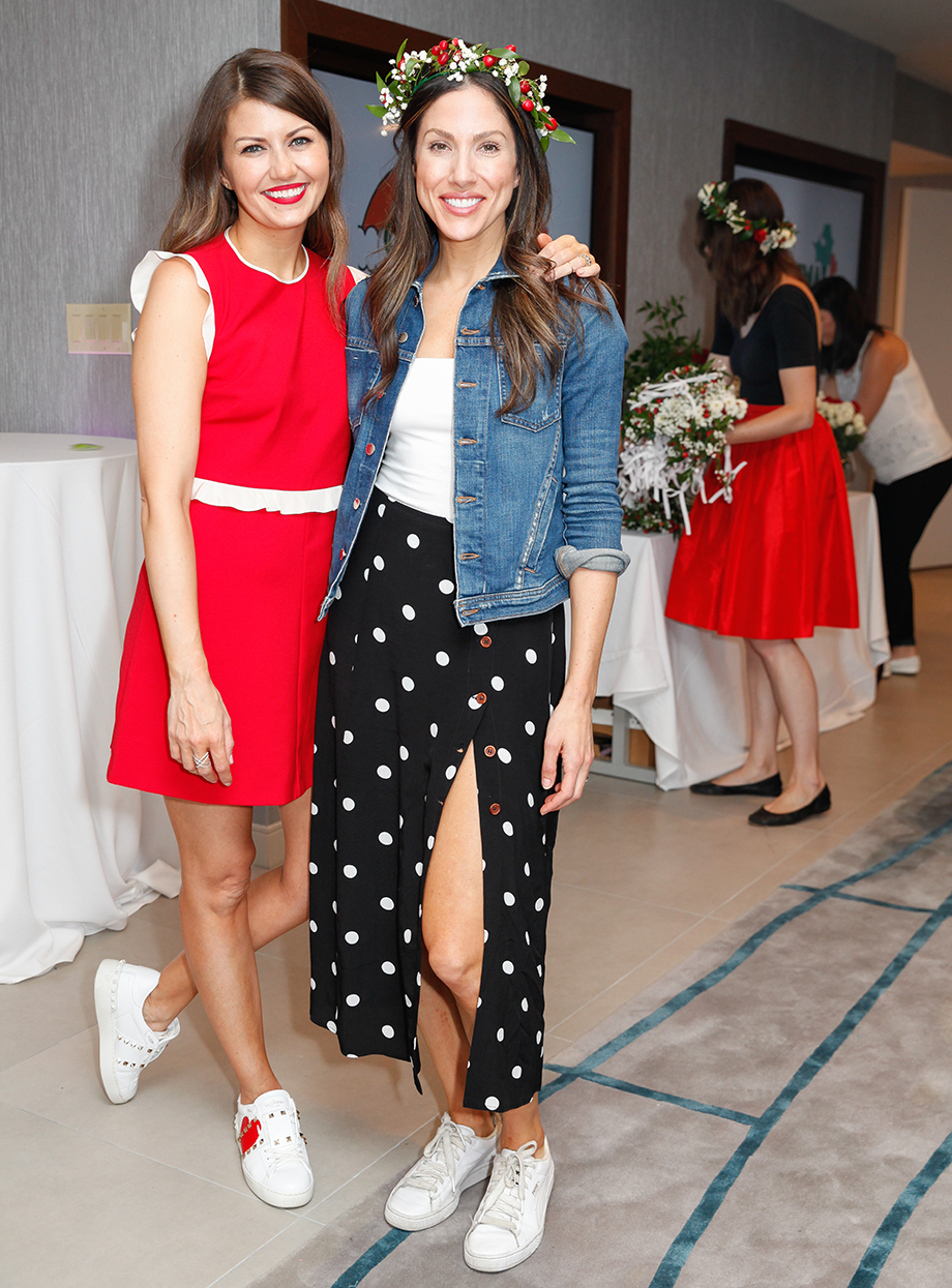 Corri McFadden poses with her friend Jessica at the Swissotel.