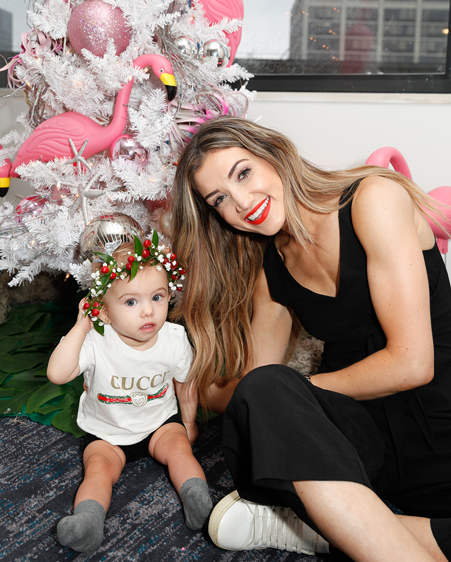 Amanda of BloHaute gets her baby a flower crown from A Crowning Event.