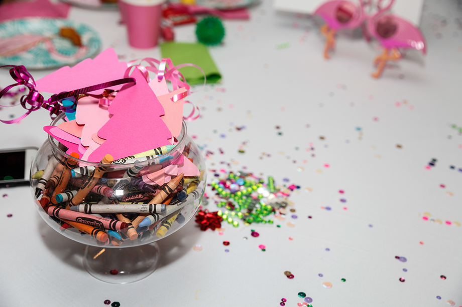 Make to Celebrate has glitter on the table.