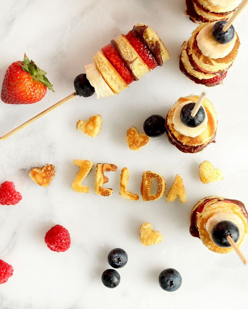 Zelda of Glitter and Bubbles shares her favorite recipe for pancake skewers with fresh fruit.