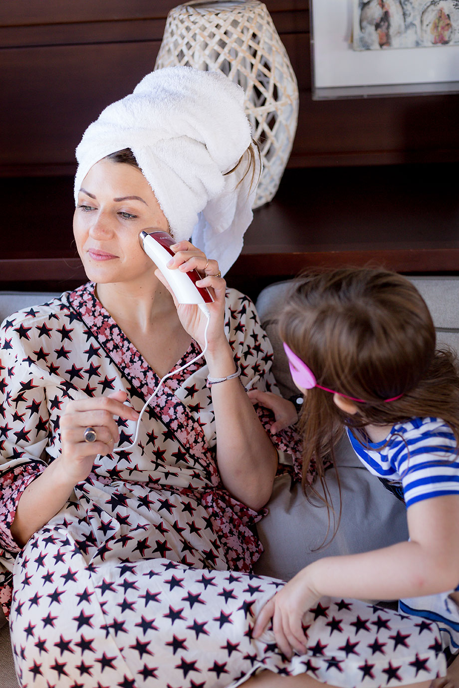 Corri teaches Zelda about skincare on a boat in Greece.