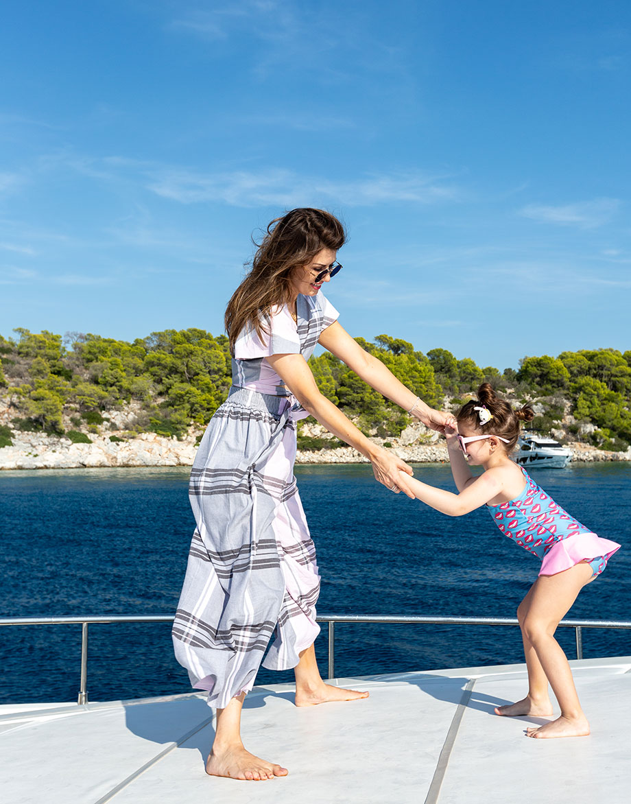 Corri McFadden and her daughter spend time together in Greece.
