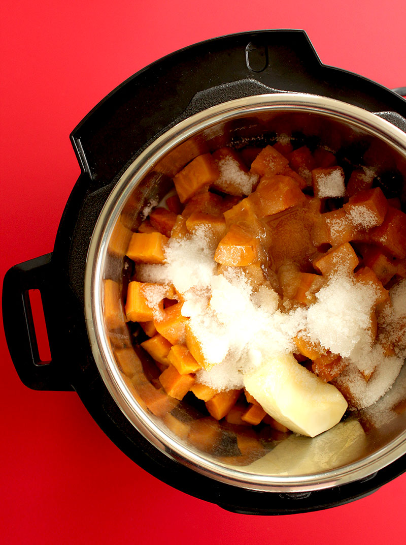 How to make a Thanksgiving side dish with an Instant Pot.
