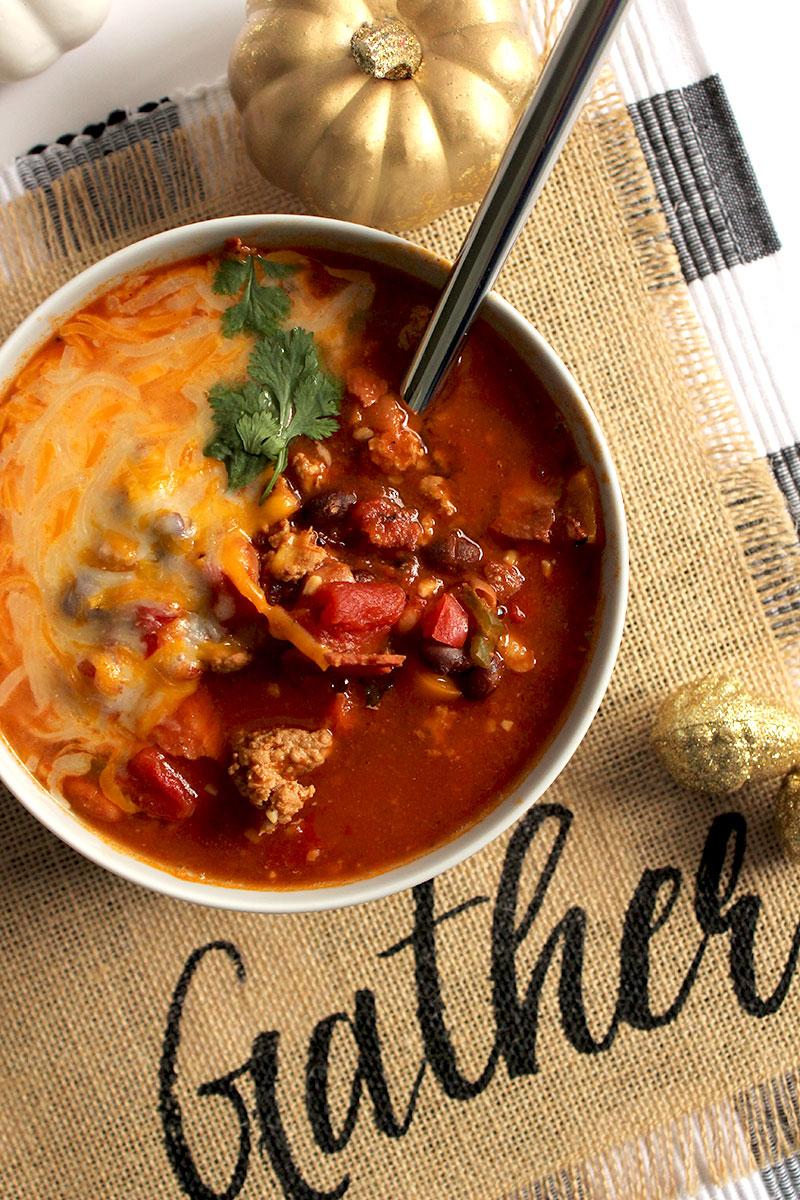 A fall recipe for Instant Pot Turkey Chili.