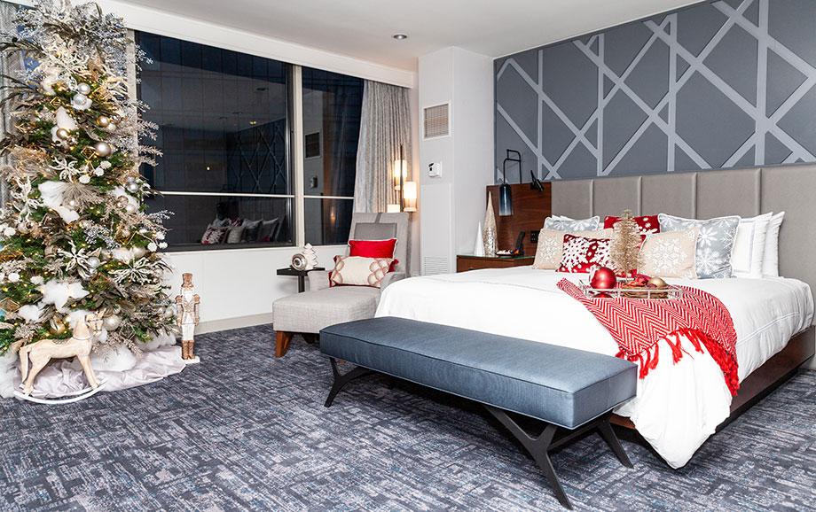 The Swissotel Santa Suite bedroom.
