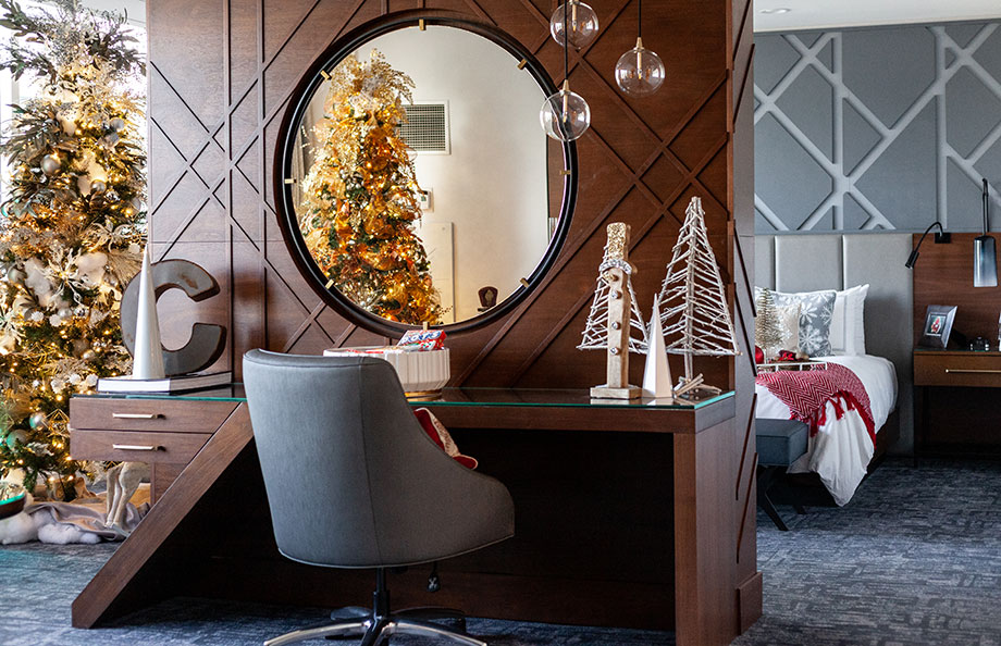 The Santa Suite office.