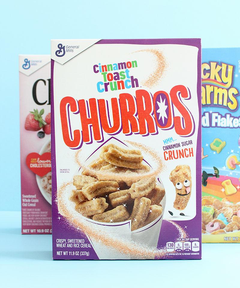 Cinnamon Toast Crunch Churros Cereal.