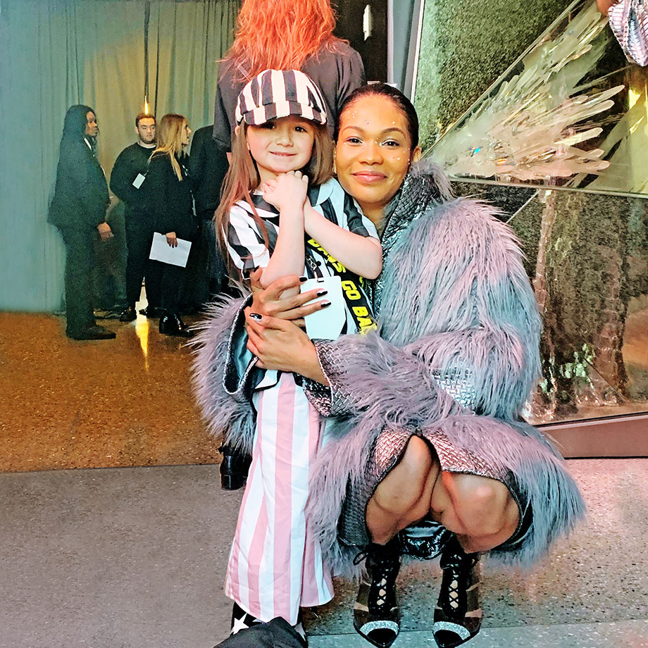 Backstage at New York Fashion Week with Zelda of Glitter and Bubbles.