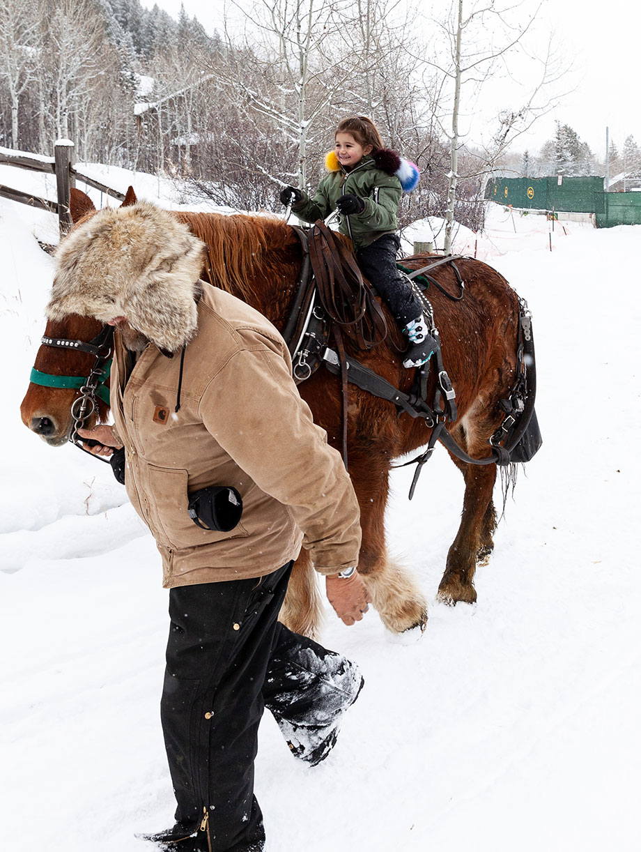 Zelda of Glitter and Bubbles checks out Aspen Carriage and Sleigh.