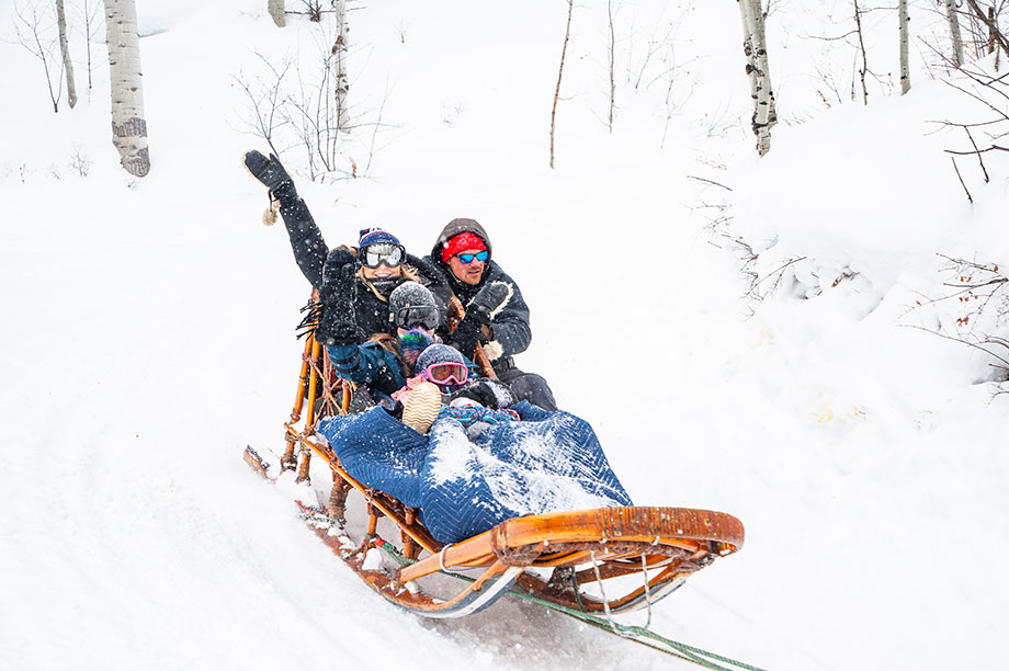 Where to go dog sledding in Aspen, Colorado.