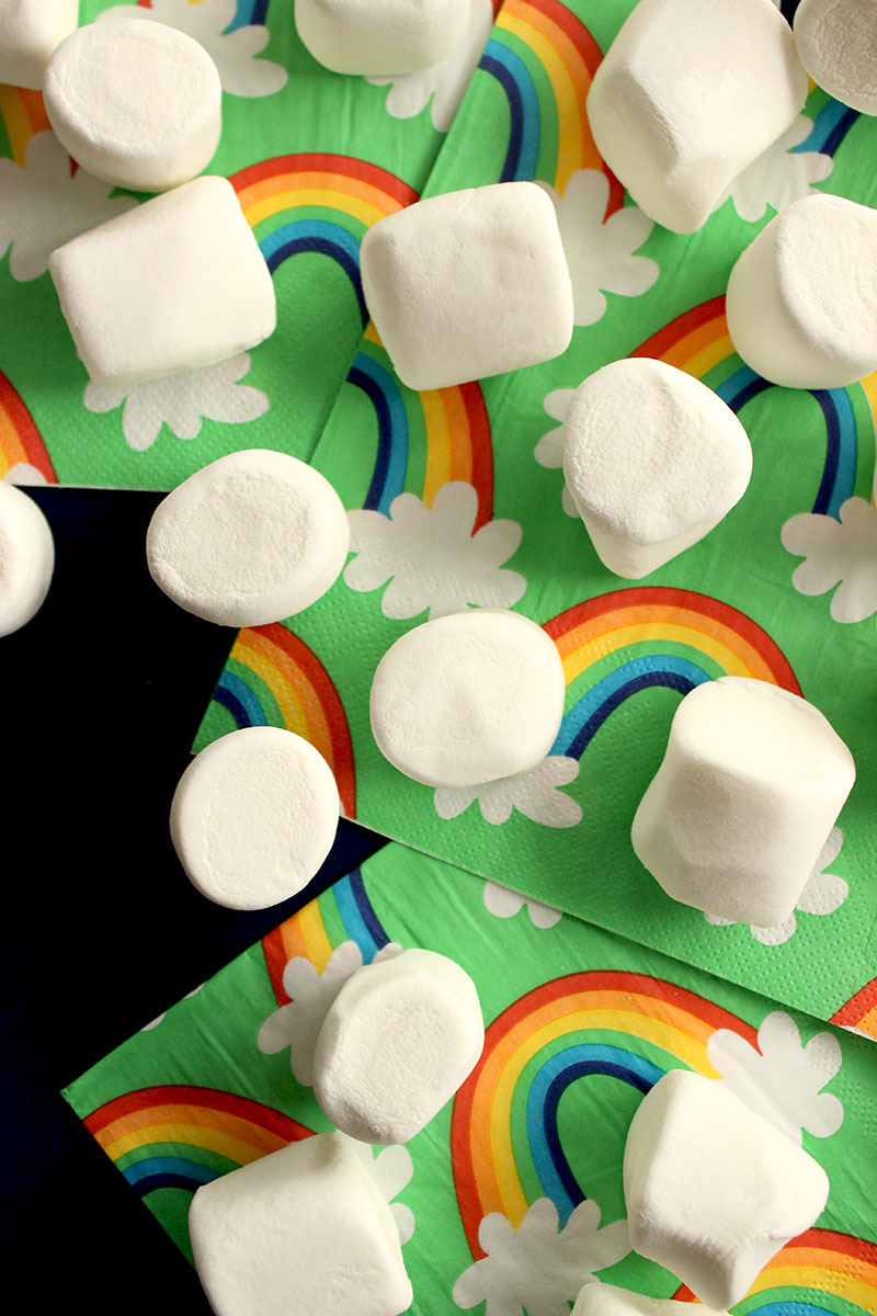 Glitter and Bubbles shows readers a recipe for Rainbow Dip.