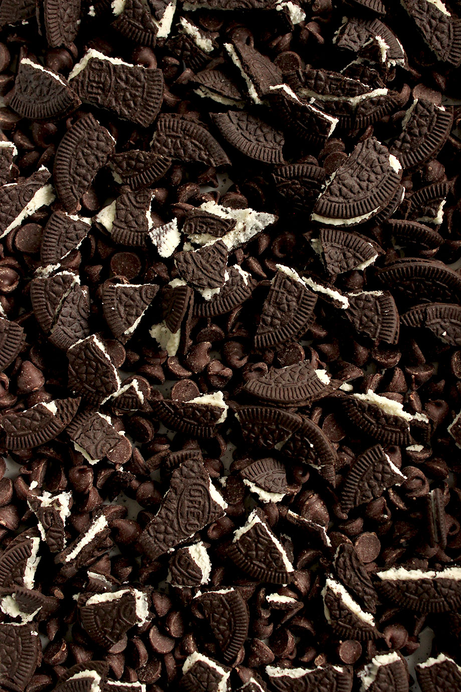 Crushed Oreos and chocolate by Glitter and Bubbles.